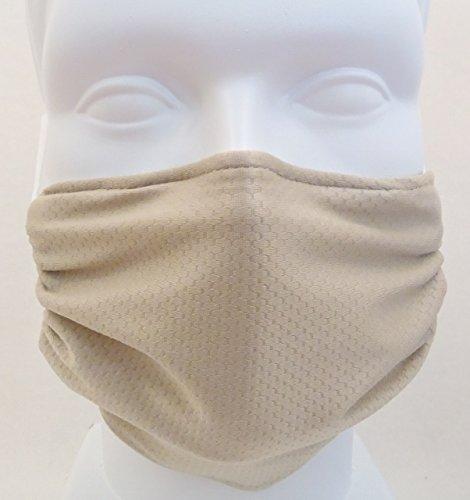 Respira sano panal máscara Beige - asma, alergia aire filtrado mascarilla germen matanza antimicrobiano ideal para lijar y paneles de yeso, renovación y construcción