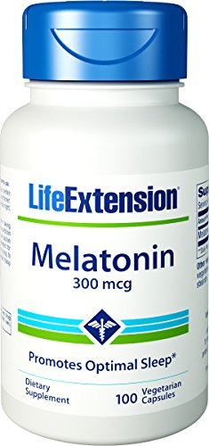 Vida extensión melatonina tiempo lanzado vegetariana tabletas, 300 mcg, 100 cuenta