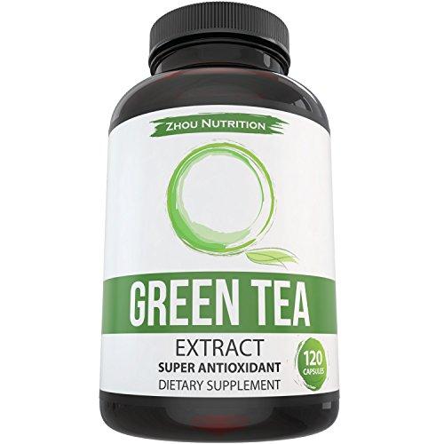 Suplemento de extracto de té verde para bajar de peso - aumentar el metabolismo y promover un corazón sano - fuente Natural de cafeína para energía suave - Super antioxidante y limpiador del Radical libre - 500mg, 120 cápsulas