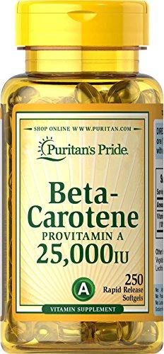 Pride betacaroteno de Puritan 25.000 UI-250 cápsulas