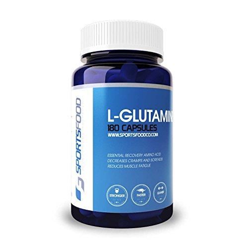 L-glutamina 1000 mg x 180 tabletas, mayor pureza en Amazon, formulación de máxima absorción