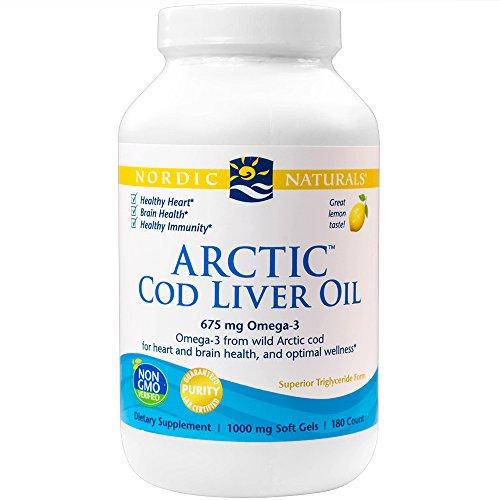 Arctic Cod Liver Oil Aceite de bacalao del ártico 180 Caps