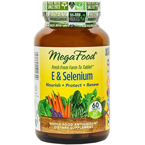 MegaFood - E y el selenio, proporciona protección antioxidante potente para la vida, 60 comprimidos (envasado de alta calidad)