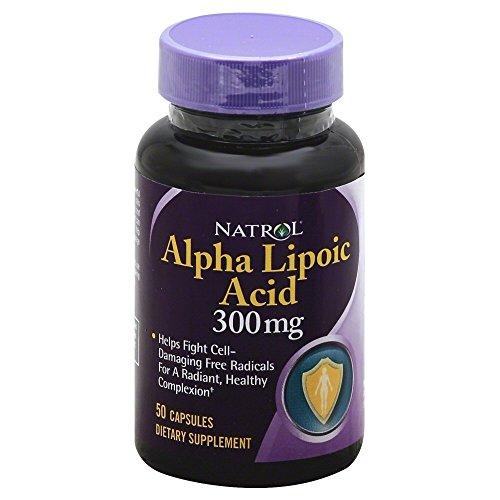 Natrol alfa Lipoic ácido cápsula, 300 Mg - 50 por paquete: 3 paquetes por caja.