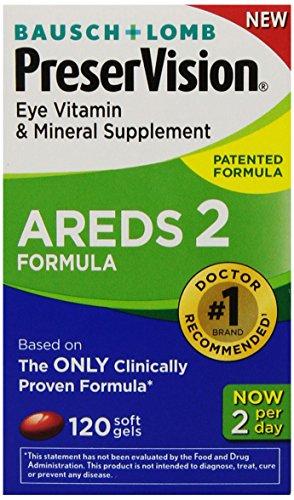 PreserVision AREDS 2 vitamina y Mineral suplen 120 cuenta Soft geles