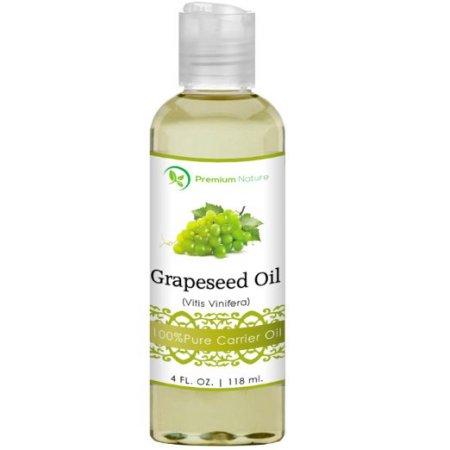 Aceite de uva aceite portador físicas 4 oz ligera y sedosa crema hidratante rico en ácidos grasos Omega previene el envejecimi