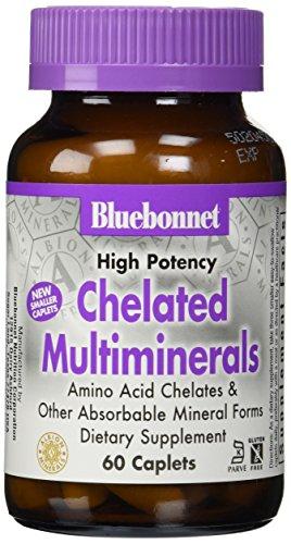 BlueBonnet Albion alta potencia quelatado Multiminerals comprimidos con hierro, cuenta 60
