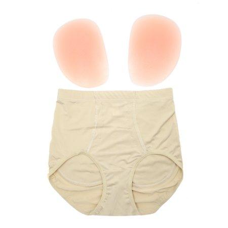 Talla XL Color de la piel de cintura alta reforzador del extremo de la talladora del cojín falso atractivo de la nalga panty