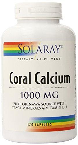 Coral de Solaray calcio cápsulas, 250 mg, 120 cuenta