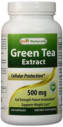 Té verde extracto 500 mg 250 cápsulas por fórmula de quemagrasas naturales mejor - limpiador del radical libre de gran alcance - pueden ayudar con la pérdida de peso - aumenta metabolismo - fabricada en un E.e.u.u. base GMP certificado y FDA inspeccionó i