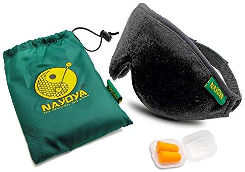 Dormir mascarilla - sueño SIDA, remedios - diseñador antifaz para dormir - con tapones para los oídos para dormir, ruido reducción - ayuda dormir para hombres, mujeres y niños - caso de tapones para los oídos y bolsa de viaje incluida