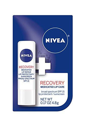 Beso NIVEA de recuperación medicinal cuidado de los labios,.17 onzas (paquete de 6)