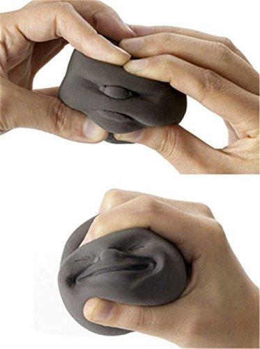 Hengsong chistosa cara superior anti-stress ayuda presión Reliver ventilación bola de la tensión (Color al azar)