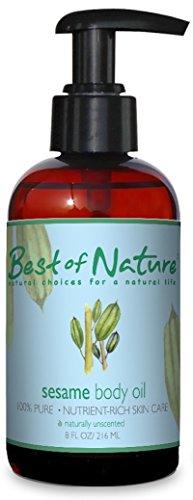 Cuerpo de sésamo aceite - 8 onzas - 100% puro y Natural