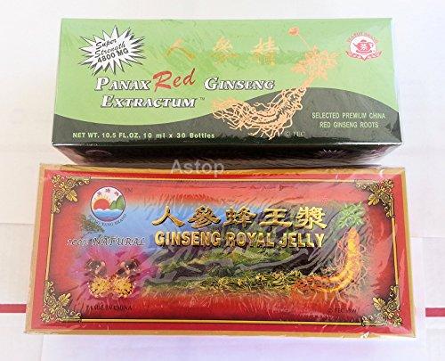 Combo de Red Panax Ginseng Extractum & Ginseng Royal Jelly suplemento alimenticio... Todo Natural... Parada