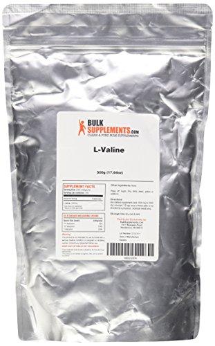 BulkSupplements polvo puro de L-valina (500 gramos)