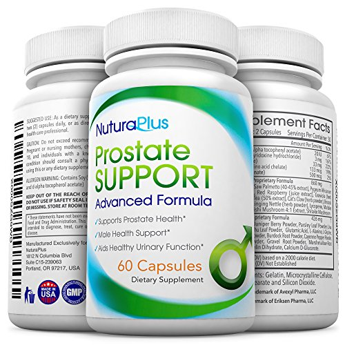 Suplemento próstata Premium - salud de la próstata Natural apoya fórmula, mejora la función urinaria y aumenta la salud íntima masculina. 1 fuente de meses - Saw Palmetto, Beta-Sitosterol y ortiga