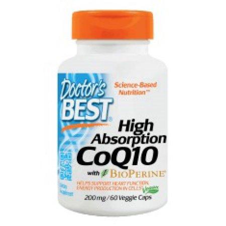 Hola Absorción CoQ10 200 mg Doctors Best 60 Veg Softgel