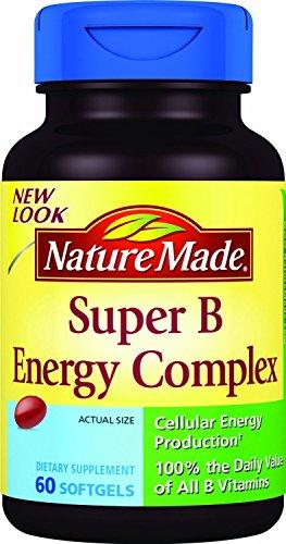 (Pack 2) - naturaleza hecho Super B energía compleja, 60 cápsulas cada uno.