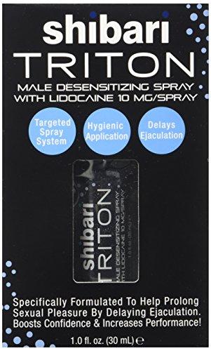Spray desensibilizante Shibari Triton Spray hombres con fuerza máxima lidocaína intimidad prolongada estimulante