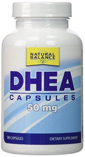 Equilibrio natural 50 mg DHEA suplemento nutricional cuenta 180