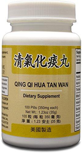 Qing Qi Hua Tan suplemento herbario Wan ayuda a para el sistema respiratorio, tos con flema 350mg 100 pastillas Made in USA
