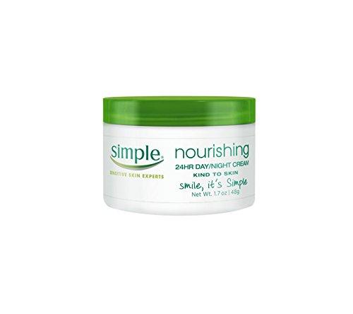 Simple Crema nutritiva 24 horas día/noche 1.7 onzas