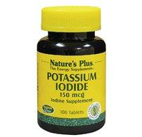 De la naturaleza más - 150mcg de yoduro de potasio, suplemento de yodo, 100 comprimidos