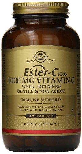 Solgar Ester C Plus vitamina C tabletas complejo de Ester C ascorbato, 1000 mg, 180 cuenta