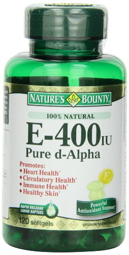 Recompensa E-400 Iu Natural puro D-alpha de la naturaleza, 120 cápsulas