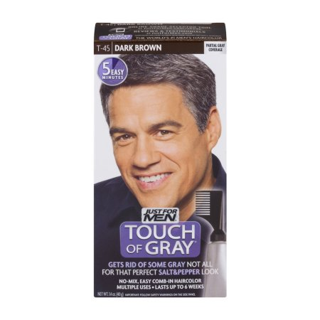 Just For Men Touch Of Grey Fácil Peine-In Color de pelo T-45 Café oscuro 14 oz