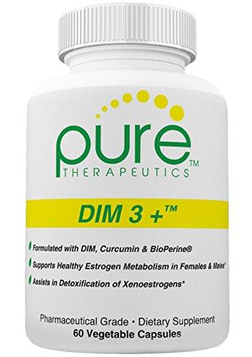DIM 3 + 60 vegetales cápsulas (suministro de 2 meses) | Representa un enfoque tridimensional para apoyar el metabolismo saludable del estrógeno | Fórmula de fuerza extra - ahora cada cápsula contiene 200 mg de DIM (diindolilmetano), 250 mg de curcumina (d