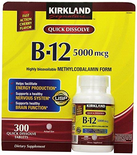Kirkland Signature Sublingual B-12 5000 mcg, 300 comprimidos