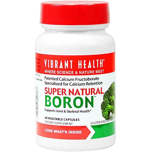 Salud vibrante - Super boro Natural - ayuda a maximizar el calcio absorción y balance de las hormonas, cuenta 60 (FFP)