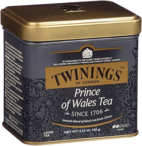 Twinings té de príncipe de Gales, suelta el té, 3,53 onzas lata