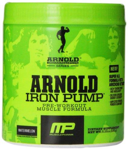 Músculo Pharm Arnold Schwarzenegger serie hierro fórmula pre-entrenamiento de bomba, sandía, 6,35 onzas
