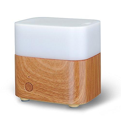 VicTsing® 120 ml difusor del aceite esencial y portátil ultrasónico fresco Aroma humidificador ionizador, con cambio de Color luz, sin agua Auto Shut-off Fuction para hogar oficina dormitorio