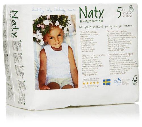 Naturaleza Babycare Eco tirón en los pantalones, talla 5, 26-40lbs (conteo de 80)