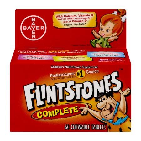 Flintstones multivitamina completa del suplemento infantil tabletas masticables - 60 CT