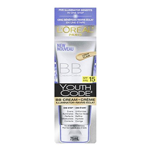 L ' Oréal Paris Youth código BB crema iluminador, luz, 2.5 onza líquida
