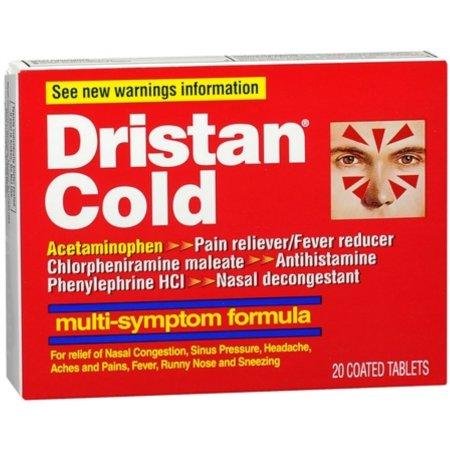 DRISTAN fría tabletas Multi-Symptom 20 Tablas (paquete de 3)