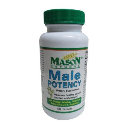 Mason Natural Potencia Masculina tabletas de suplementos alimenticios para la salud sexual - 60 Ea
