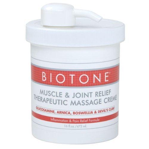 Creme, 16 onzas de masaje muscular Biotone y productos terapéuticos de alivio conjunto