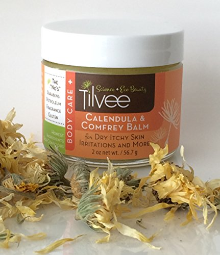 Caléndula y consuelda bálsamo 79% orgánica (planta base de ingredientes orgánicos) tarro de 2 oz