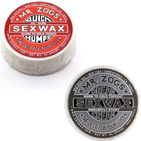 Sex Wax RÁPIDA CHEPAS SURF WAX Pack de 2 5 veces y crema SUEÑO PLATINUM