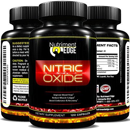Óxido nítrico antioxidantes Pycnogenol ingredientes (Francés marítimo pino corteza extracto 95% proantocianidinas 100mg por 1 1/2 cápsulas) con 1000mg de L-arginina y L-citrulina 1000mg - suplemento de NO2 de alta calidad - mejorar el flujo de sangre, red