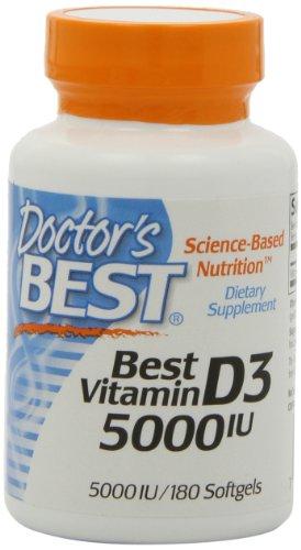 Mejor vitamina D3 5000 iu, geles suaves, 180-Conde del doctor
