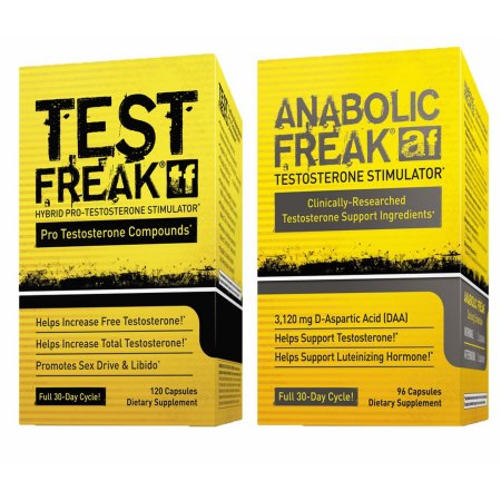 (1) PharmaFreak - FREAK TEST - EE.UU. testosterona Booster y (1) PharmaFreak ANABOLIC FREAK testosterona Estimulador