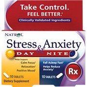 Natrol estrés y la ansiedad - tabletas de día y de noche, 60-Conde