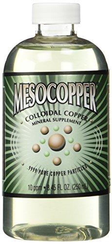 MesoCopper ® 10 ppm cobre coloidal 250 mL/8.45 Oz